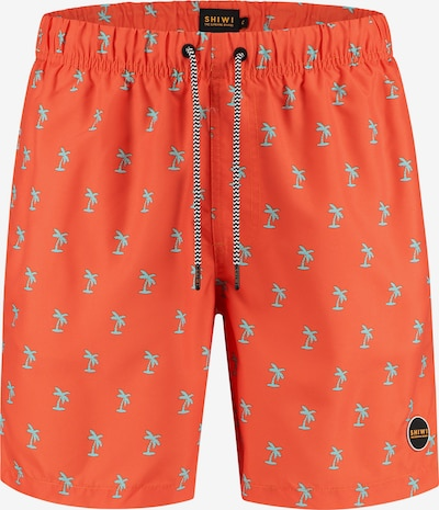 Shiwi Kratke kopalne hlače 'SHIWI palmtree' | modra / oranžno rdeča barva, Prikaz izdelka