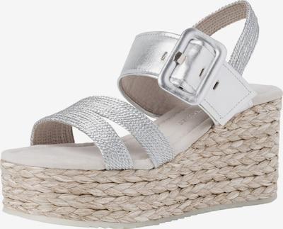 MARCO TOZZI Sandalette in silber, Produktansicht