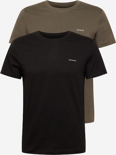 Calvin Klein Jeans Majica u tamno smeđa / crna, Pregled proizvoda