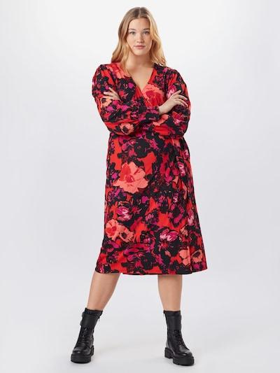 River Island Sukienka oversize w kolorze mieszane kolory / czerwonym, Podgląd na modelu(-ce)