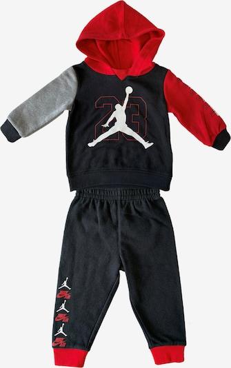 Jordan Trainingsanzug in grau / rot / schwarz / weiß, Produktansicht