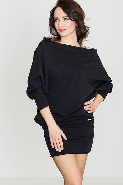 Lenitif Jerseykleid in schwarz, Modelansicht