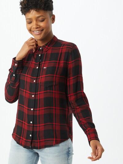 Tommy Jeans Bluse in rot / schwarz, Modelansicht