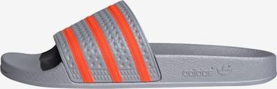 Zoccoletto 'Adilette' ADIDAS ORIGINALS di colore grigio / arancione chiaro, Visualizzazione prodotti