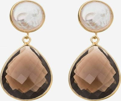 Gemshine Ohrringe in braun / gold, Produktansicht