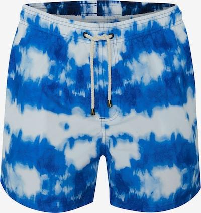 TOM TAILOR Zwemshorts 'MARCIO BATIK' in de kleur Blauw / Wit, Productweergave