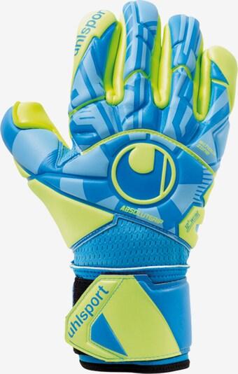 UHLSPORT Handschuh in hellblau / gelb, Produktansicht