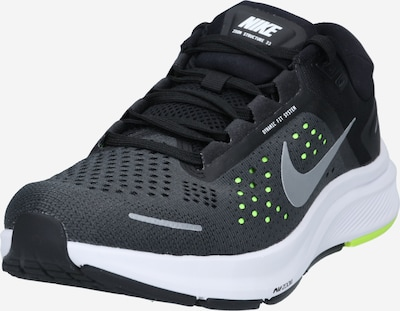 NIKE Running shoe 'Air Zoom Structure 23' in neon green / black, Item view