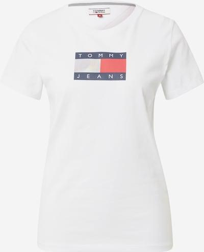 Tommy Jeans T-shirt en bleu foncé / melon / blanc cassé, Vue avec produit