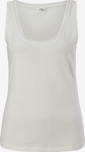 s.Oliver BLACK LABEL Jerseytop in weiß, Produktansicht