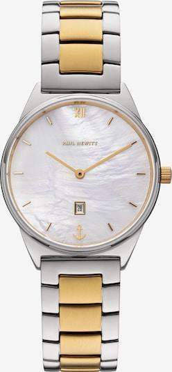 Paul Hewitt Uhr in gold / silber / perlweiß, Produktansicht