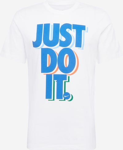 Tricou Nike Sportswear pe albastru cer / albastru deschis / verde / portocaliu / alb, Vizualizare produs