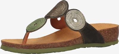 THINK! Zehensteg in braun / grün, Produktansicht