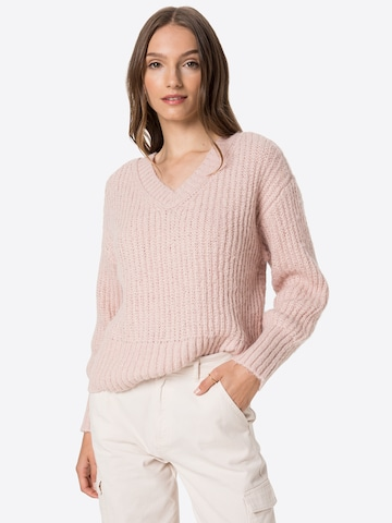 PIECES Sweater in Purple