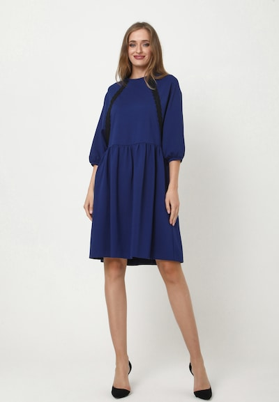 Madam-T Oversized jurk 'ADAMASA' in de kleur Blauw, Modelweergave