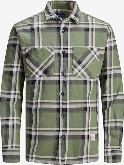 Jack & Jones Junior Overhemd in de kleur Groen / Zwart / Wit, Productweergave