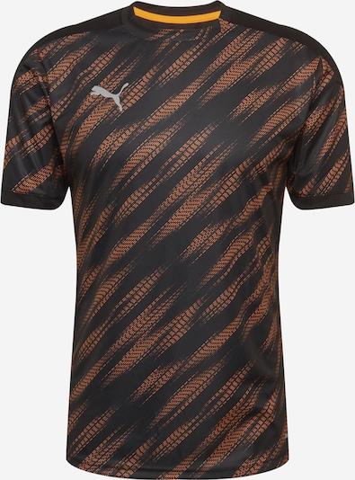 PUMA T-Shirt fonctionnel en gris foncé / orange foncé / noir, Vue avec produit