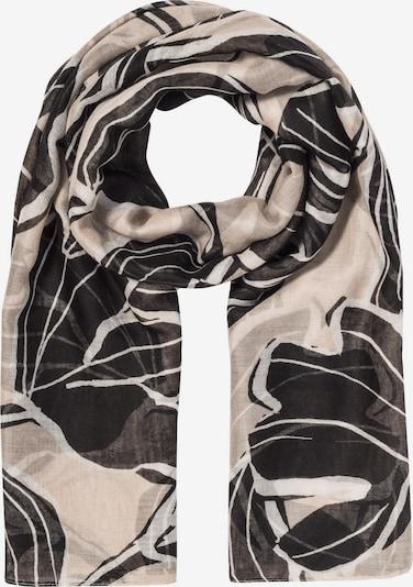 HALLHUBER Tuch in beige / schwarz, Produktansicht