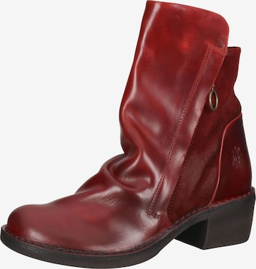 FLY LONDON Lace-Up Ankle Boots in Red
