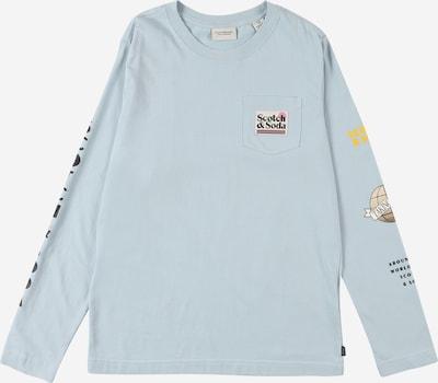 Tricou SCOTCH & SODA pe bej / albastru fumuriu / galben / negru / alb, Vizualizare produs