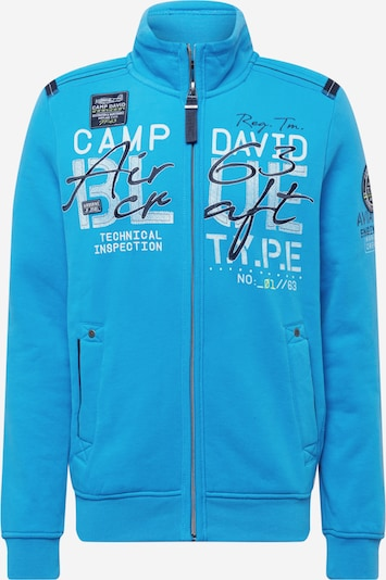 CAMP DAVID Tepláková bunda - nebesky modrá / čierna / biela, Produkt
