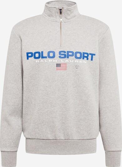 POLO RALPH LAUREN Sweatshirt in blau / hellgrau / rot / weiß, Produktansicht