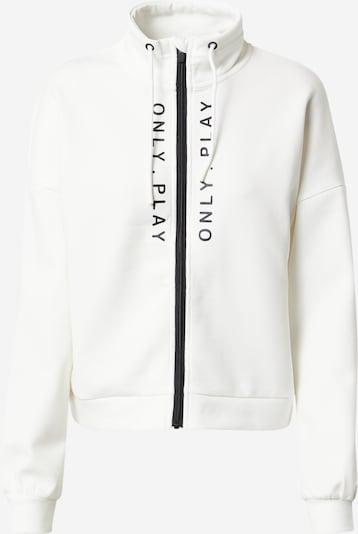 ONLY PLAY Athletic Zip-Up Hoodie 'SEBINA' in Black / White, Item view