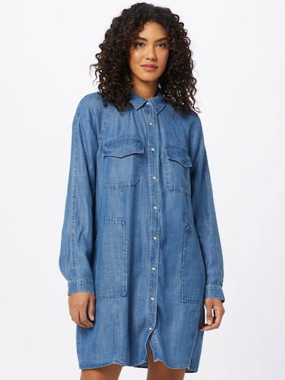 Superdry Ljetna haljina 'TENCEL OVERSIZED SHIRT DRESS' u plava, Prikaz modela