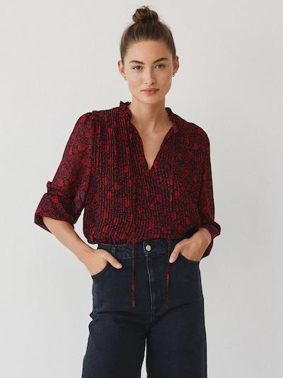 MANGO Bluse 'Pliti' in rot / schwarz, Modelansicht