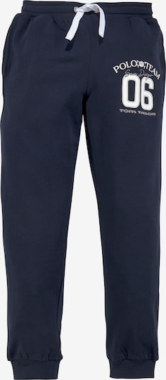 Tom Tailor Polo Team Pants in marine blue / White, Item view