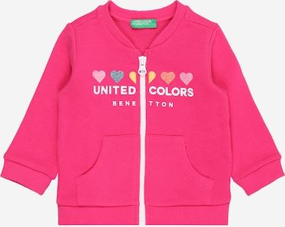 UNITED COLORS OF BENETTON Sweatjacke in navy / gelb / pink / rosa / weiß, Produktansicht