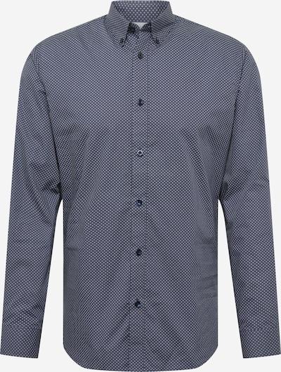 SELECTED HOMME Skjorta 'Roy' i beige / mörkblå, Produktvy