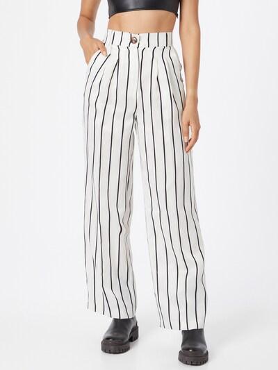 River Island Pantalon à pince en noir / blanc, Vue avec modèle