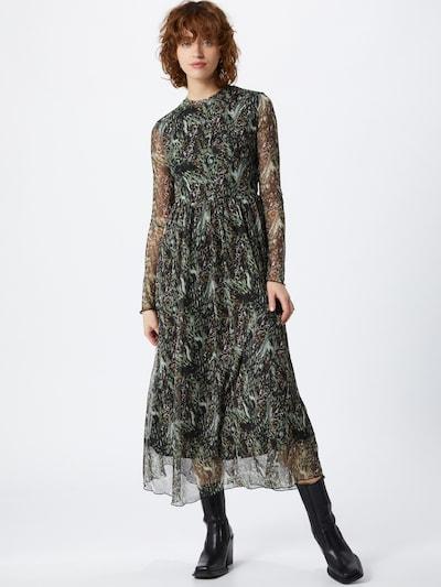 Moves Kleid in braun / khaki / schwarz, Modelansicht