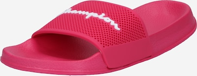 Champion Authentic Athletic Apparel Pantoletter 'DAYTONA' i mørk pink / hvid, Produktvisning