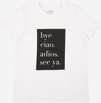 Little Pieces Shirt 'CIAO' in schwarz / weiß, Produktansicht