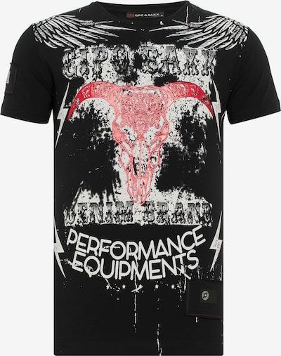 CIPO & BAXX T-Shirt 'Langhornschädel' in schwarz, Produktansicht