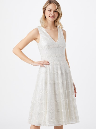 STAR NIGHT Kleid in silber / offwhite, Modelansicht