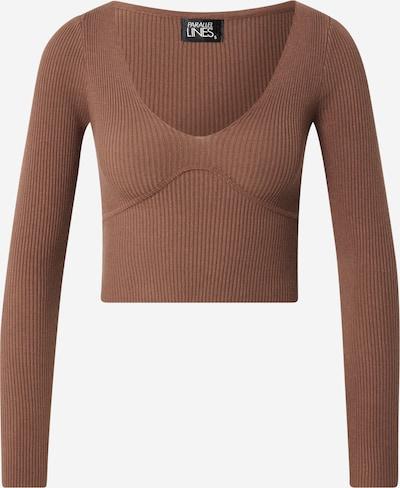 Parallel Lines Pullover in braun, Produktansicht