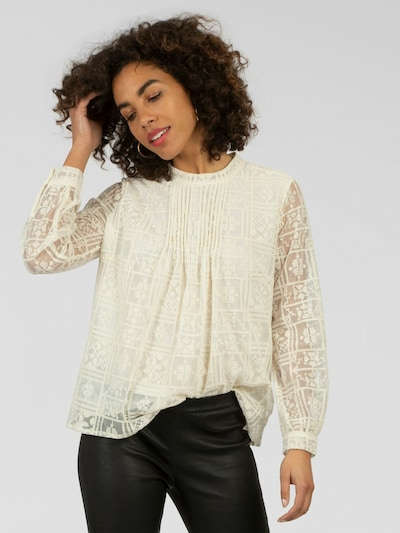 APART Bluse aus Mesh mit Stickerei in creme, Modelansicht