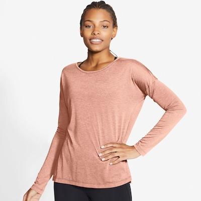 NIKE Yogashirt in apricot: Frontalansicht