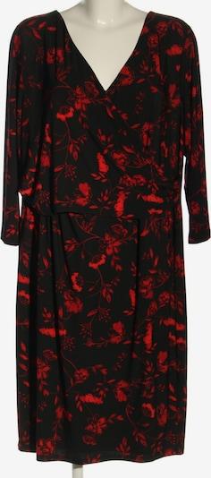 RALPH LAUREN Langarmkleid in XL in rot / schwarz, Produktansicht