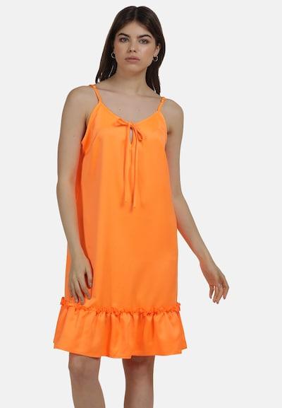 MYMO Sommerkleid in neonorange, Modelansicht