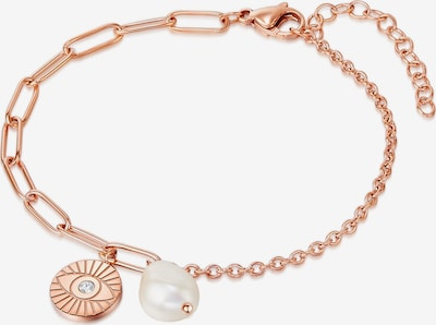 Valero Pearls Edelstahl-Armband in rosegold, Produktansicht