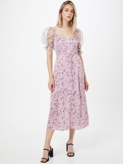 FRENCH CONNECTION Šaty 'ELITAN' - modrá / bledě fialová / černá / bílá, Model/ka