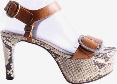 Pedro García Plateau-Sandaletten in 37 in creme / braun, Produktansicht