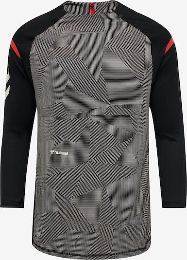 Hummel T-Shirt fonctionnel 'hmlPRO XK GAME' en gris foncé / rouge / noir / blanc, Vue avec produit