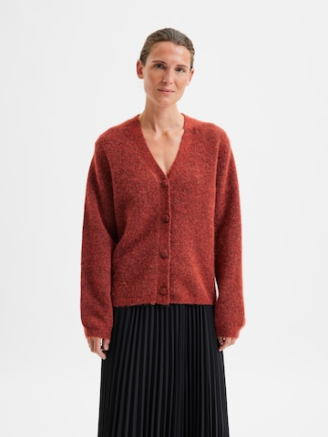 SELECTED FEMME Knit Cardigan 'Sif Kaya' in Red