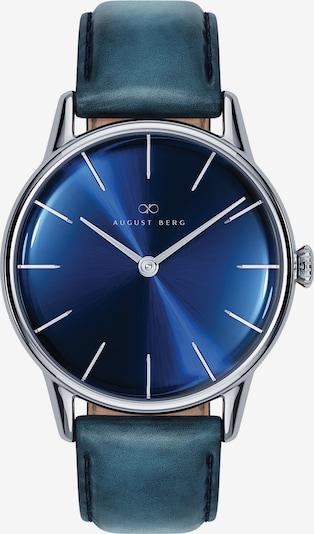 August Berg Uhr Serenity Deep Blue Silver Blue Leather 32mm in blau, Produktansicht