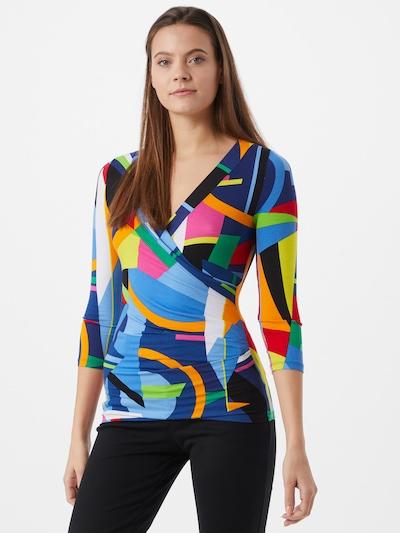 Tricou 'ALAYJA' Lauren Ralph Lauren pe albastru / culori mixte: Privire frontală
